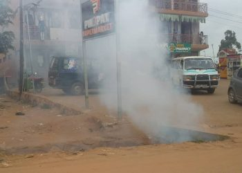 Teargas rock Gayaza as Police arrests journalists for covering Bobi Wine (PHOTO/Courtesy).