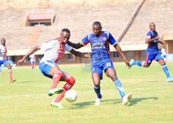 Action between SC Villa and Busoga United FC on Tuesday. (PHOTO/Courtesy)