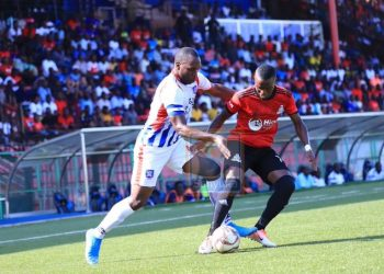 Action between Vipers SC and SC Villa at St. Mary's Stadium in Kitende on Friday. (PHOTO/Courtesy)