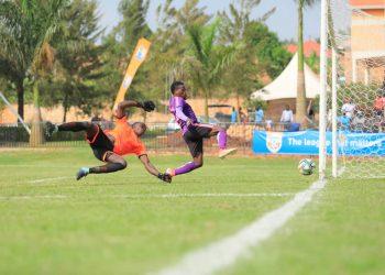 Action between Wakiso Giants FC and Onduparaka FC on Sunday. (PHOTO/Wakiso Giants)