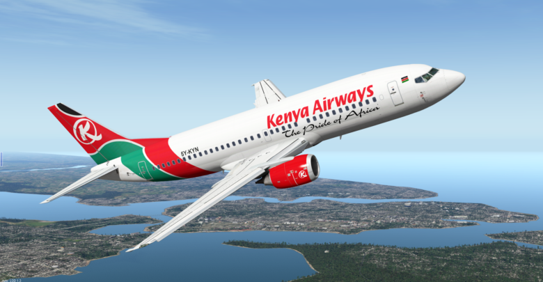 Kenya Airways was grounded as country stems the spread of coronavirus (PHOTO/File)
