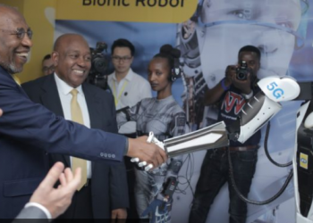 MTN Uganda becomes the first brand to conduct a 5G trial in the East African region after application trials in South Africa which saw the telecom achieve an output of over 20Gbps with less than five minutes latency in the 5G trial (PHOTO/Javira Ssebwami)