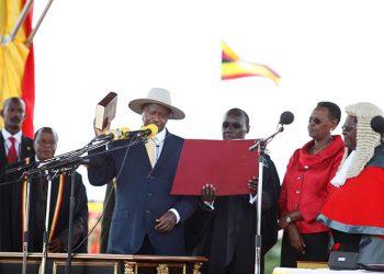 President Museveni swearing in 2011