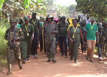 Yoweri Museveni said his trek was 'a journey through the past to appreciate the present (PHOTO/PPU)