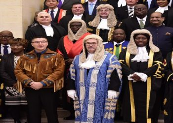 Speaker Kadaga (2nd left)together with speakers who attended the 25th Conference of the Speakers and Presiding Officers of the Commonwealth in Ottawa, Canada