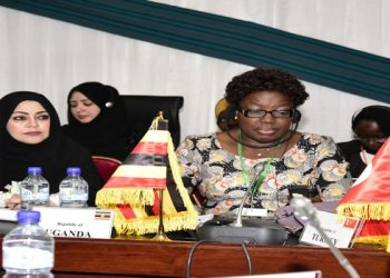 Speaker Rebecca Kadaga during the 9th conference of Parliamentary Women Muslims