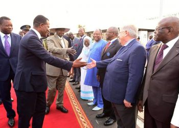 Prime Minister Amama Mbabazi who was at the airport to receive the President on behalf of the foundation (PHOTO/PPU)