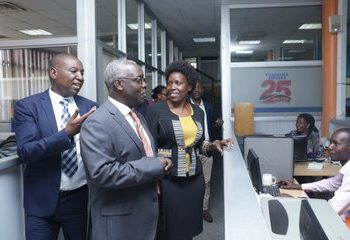 Mr. Kabushenga made the call as he hosted a visiting delegation from ICT Ministry led by Mityana Woman MP and ICT Minister Nabakooba who toured the state of the art printer, newsrooms among other areas (PHOTO/New Vision)