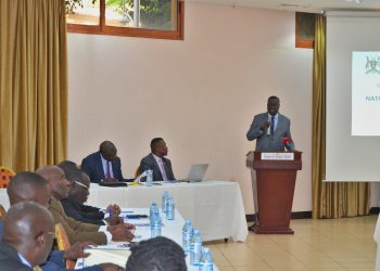 The Deputy Dpp, Elem Charles Ogwal, delivering welcome remarks at the workshop (PHOTO/PML Daily)