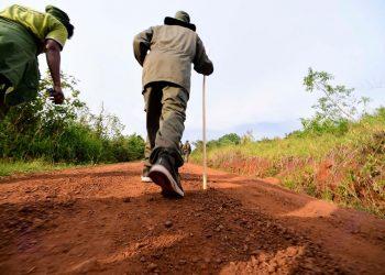 President Museveni on his six-day trek (PHOTO/PPU).