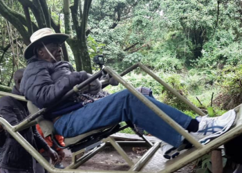 The 99-year-old senior citizen of Kenya spent the better part of the cool morning of Sunday in Mgahinga Gorilla National Park tracking the gentle giants (PHOTO/Courtesy)