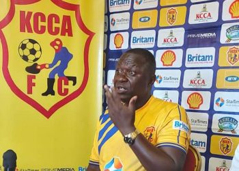 KCCA FC head coach Mike Mutebi speaking ahead of the Uganda Premier League game against Vipers SC on Tuesday. (PHOTO/Courtesy)
