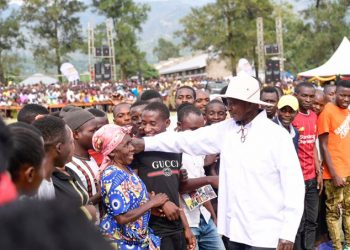 President Yoweri Museveni was on weekend in Bukonzo County West, Kasese District for the fundraising ceremony of Katalikibi Primary School, Bwera Secondary School, and Jesus Cares Girls' Hostels (PHOTO/PPU)