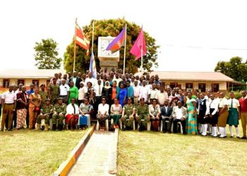 Mrs Natasha Karugire, who led Grateful Citizens Group, the donation is a symbolic activity to show that they stand together with UPDF and children of soldiers at all times (PHOTO/courtesy)