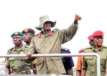 President Museveni during the 39th Tarehe Sita celebration in Nakaseke district on Thursday (PPU).