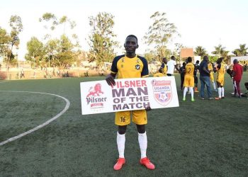 Bright Stars' Bernard Muwanga was the man of the match on Tuesday. (PHOTO/Courtesy)
