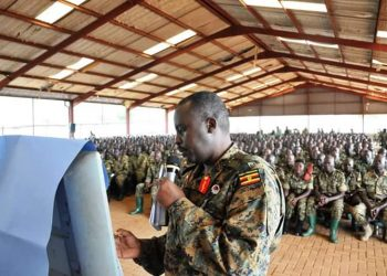 Gen David Muhoozi has lectured soldiers on Uganda history (PHOTO/courtesy)