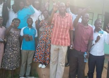 Some of the newly elected FDC leaders in Nakasongola district (PHOTO/Courtesy)
