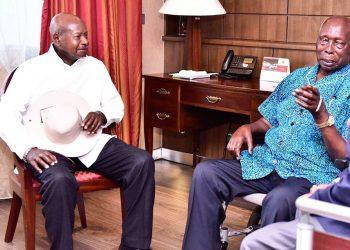 President Museveni (R) and his fallen friend