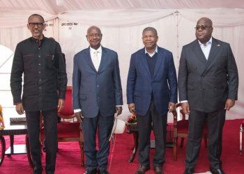 Presidents Paul Kagame, Yoweri Museveni, Laurenco and Tshekedi (PHOTO/PML DAILY)