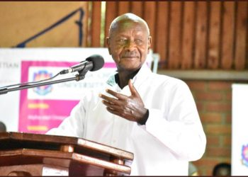 President Yoweri Museveni has don't UGX 80m to UCC students (PHOTO/Elizabeth Namajja)