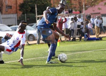 Action between Police FC and SC Villa on Monday. (PHOTO/Courtesy)