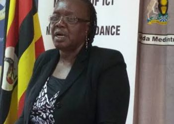 Director of NCDC, Ms Grace Baguma addressing press at Uganda Media Center recently (PHOTO/File).