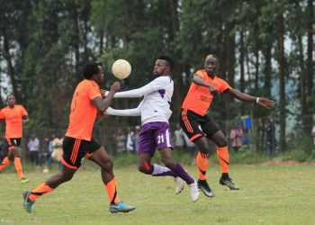 Action between Tooro United FC and Wakiso Giants FC on Wednesday. (PHOTO/Wakiso Giants)