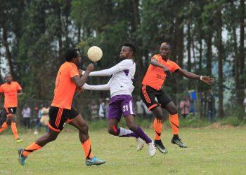 Action between Tooro United FC and Wakiso Giants FC on Wednesday. (PHOTO/Wakiso Giants)