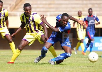 Action between SC Villa and Proline FC at Mandela National Stadium in Namboole on Saturday afternoon. (PHOTO/Courtesy)