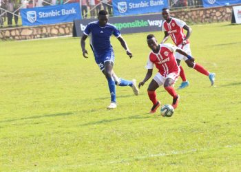 Action between Express FC and Maroons in the Uganda Cup on Wednesday. (PHOTO/Courtesy)