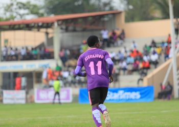 Viane Sekajugo scored what woud prove to be the winner as Wakiso Giants FC defeated Maroons FC at the Kabaka Kyabaggu Stadium in Wakissha on Tuesday. (PHOTO/Courtesy)