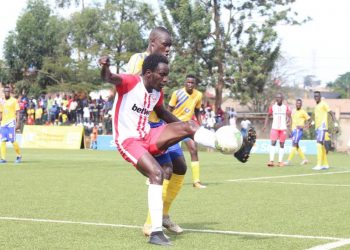 Action between KCCA FC and Express FC at Lugogo on Saturday. (PHOTO/Express FC)