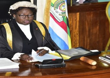Speaker Kadaga chaired the sitting of the House on Thursday, 06 February 2020 (PHOTO/File)