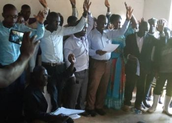 Kalangala FDC newly elected leaders taking oath