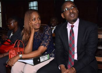 Kanyamunyu (R) and his girlfriend Cynthia Munwangari in court (PHOTO/File)