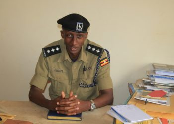 Samson Kasasira, the Rwizi regional police spokesperson speaks to media about the matter (PHOTO/Micah).