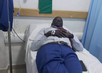 MP Odonga Otto admitted at Nakasero Hospital in Kampala (PHOTO/Courtesy).