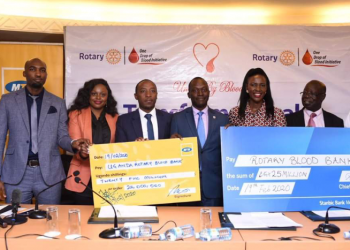 Singer Rema and Hubby Hamza have joined Rotary as the form seeks money for Mengo Blood Bank (PHOTO/File)