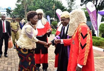 Speaker Rebecca Kadaga committed on behalf of Parliament to always support the Judiciary at the opening of the New Law Year and said the Administration of the Judiciary Bill will be prioritised.