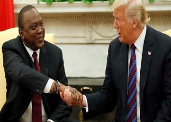 Presidents Uhuru Kenyatta and is US counterpart Donald Trump respectively (PHOTO/File).