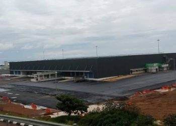The new cargo terminal centre nears completion (PHOTO/Javira Ssebwami)