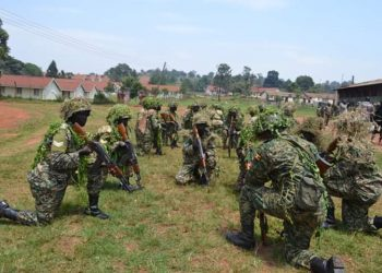 Maj Gen Kyanda was impressed by the demonstrations conducted by the graduands during the pass-out ceremony which included range, tactics, and drill and instruction exercises (PHOTO/PML Daily)