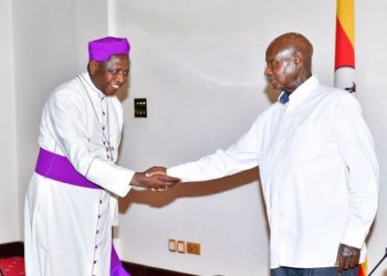 His Grace The Most Rt. Rev. Dr. Stanley Ntagali, Archbishop of the Church of Uganda, after finishing his tenure has bid farewell to President Museveni (PHOTO/PPU)