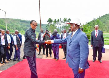The leaders of Uganda and Rwanda Yoweri Museveni &and Paul Kagame are meeting at their border and having talks aimed at restoring good relations between the two countries (PHOTO/PPU)