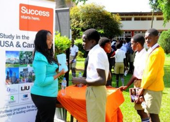 Students of Kings College, Budo during a Careers Day in 2018. The school emerged top in producing top students (PHOTO/File).
