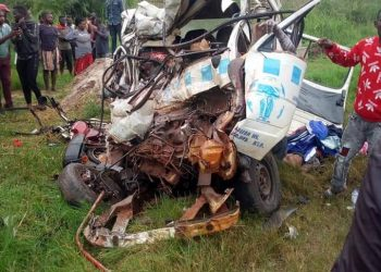 The commuter taxi was mangled to scrap (PHOTO/Courtesy).