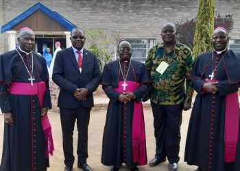 A group photo of clergymen