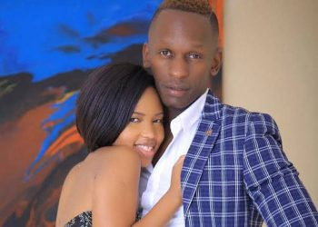 Socialist couple Sheila Gashumba and boyfriend God's Plan making out (PHOTO/Courtesy)