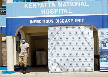 A worker walks outside the novel coronavirus isolation facility at Mbagathi Hospital in Nairobi, Kenya March 15, 2020 (PHOTO/REUTERS).